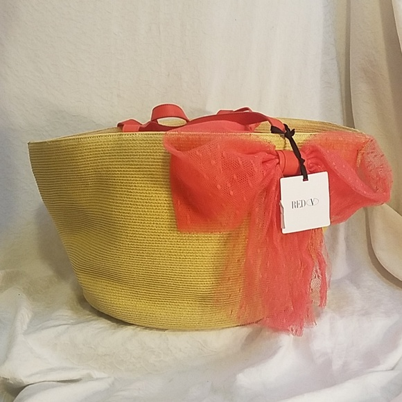 db476bc60ac RED Valentino Bags   Final Nwt Large Tote Wcoral Bow   Poshmark